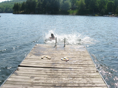 Jumping into Cloudy Lake