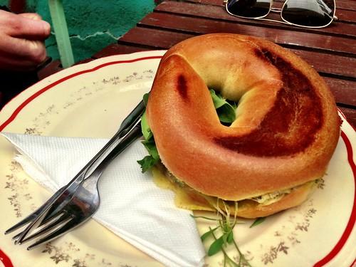 The green monster bagel