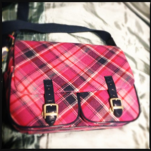 Ness Sienna Tweed Satchel Bag - Pink by i-c-photos