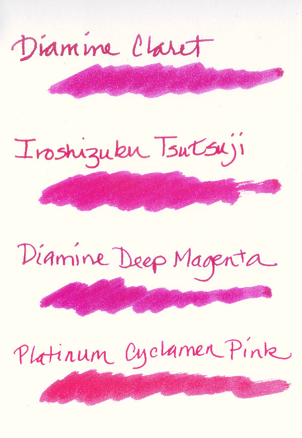 Pink Fountain Pen Inks