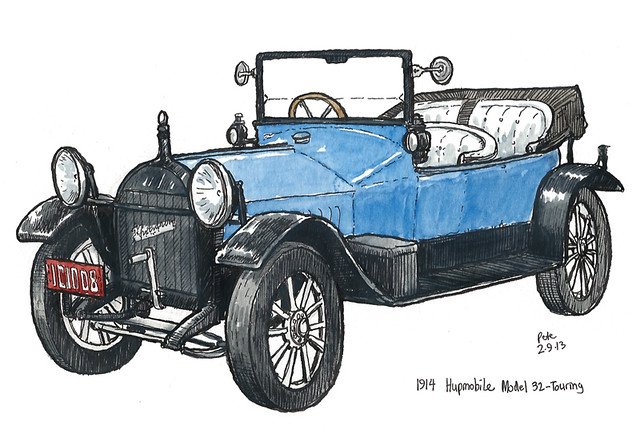 1914 hupmobile model 32 touring