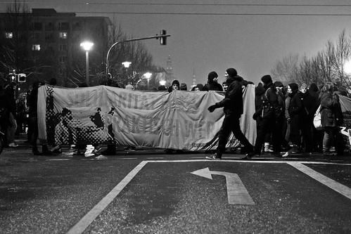 13 februar 2013 Blockade Strießner Straße