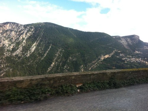 Sedimentary rock mountains in northern Lebanon, limestone (February 2013)