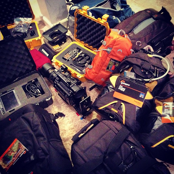 Obligatory gear mess shot