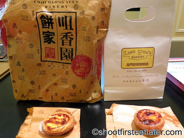 Portugese egg tart showdown = Choi Heong Yuen Bakery vs Lord Stow's Bakery