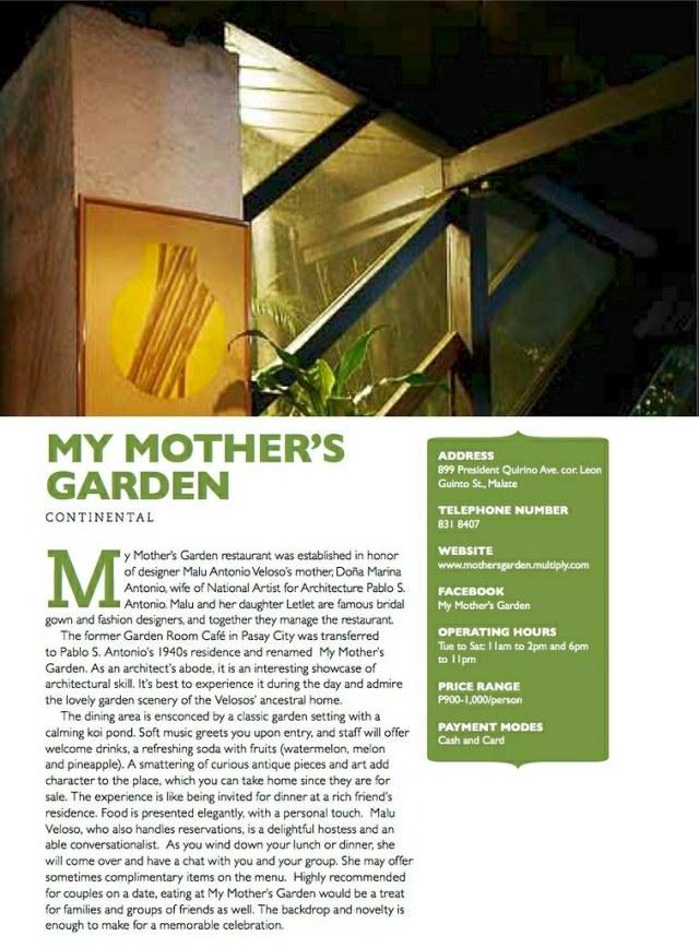 My Mother's Garden 1