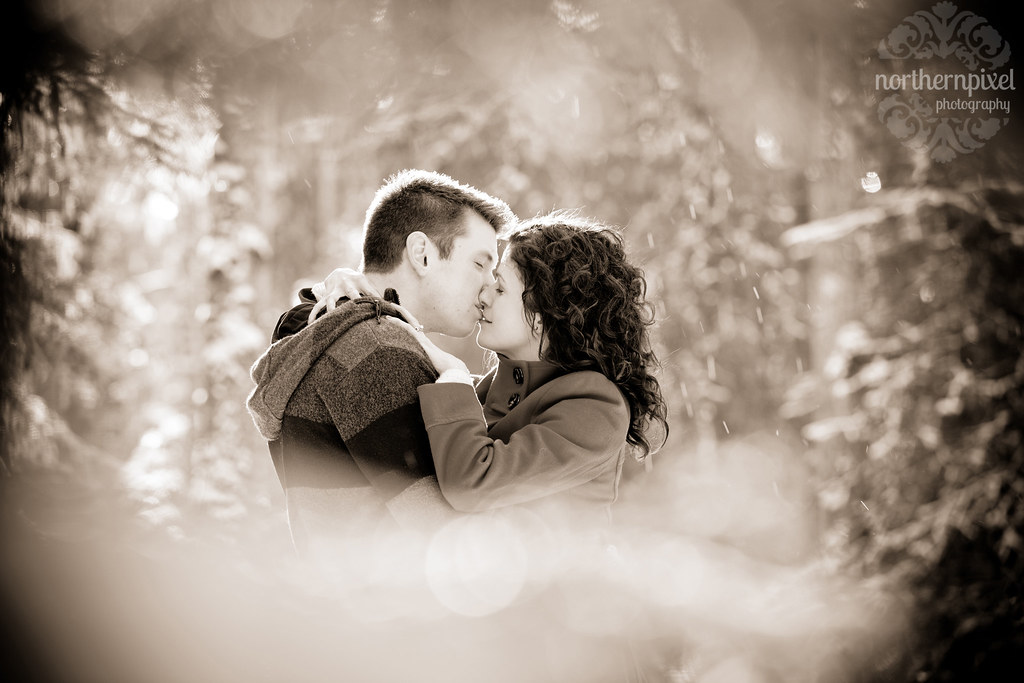 Winter Engagement Session Prince George British Columbia