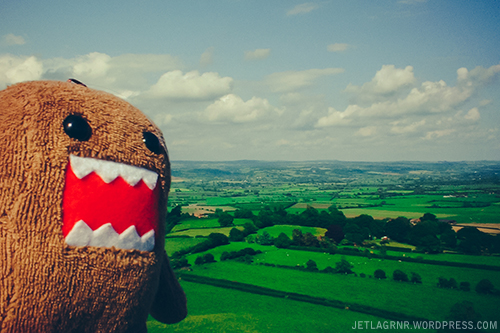 domo with view from glastonbury tor