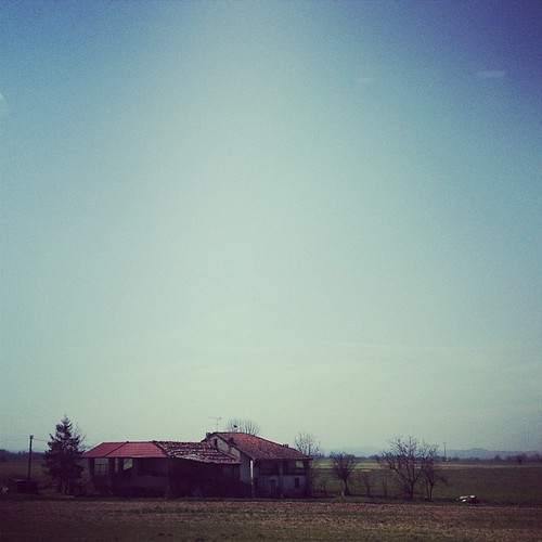 Lonely italian house.