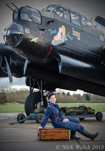 Alice on the Tool Box - Lincolnshire Aviation Centre