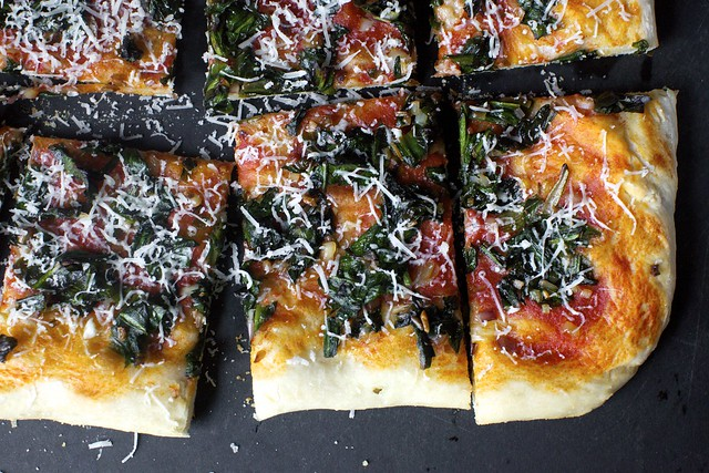 ramp pizza with romano cheese