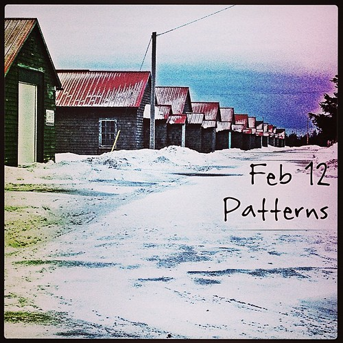 Feb 12 - patterns {I love the pattern in the row of old barracks} #photoaday #princeedwardcounty #patterns