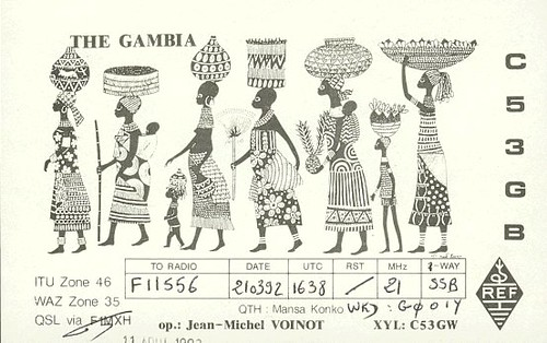 C53GB - F11556 - QSL - Gambie - The Gambia by Yannick BARBIER