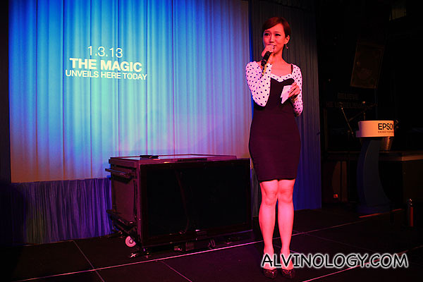 Radio deejay Lin Peifeng was the emcee for the event
