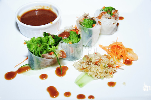 Vietnamese Spring Rolls by Chef Bernard is paired with Quinoa.