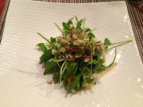 Arugula Salad w/ Lobster, Blue Cheese, & Asian Pears
