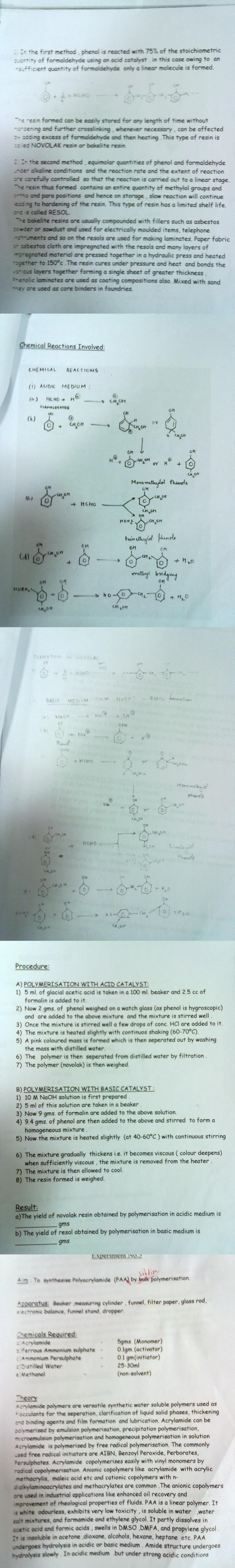 DTU Practical Files - 7 Sem PSCT - Polymer_Synthesis