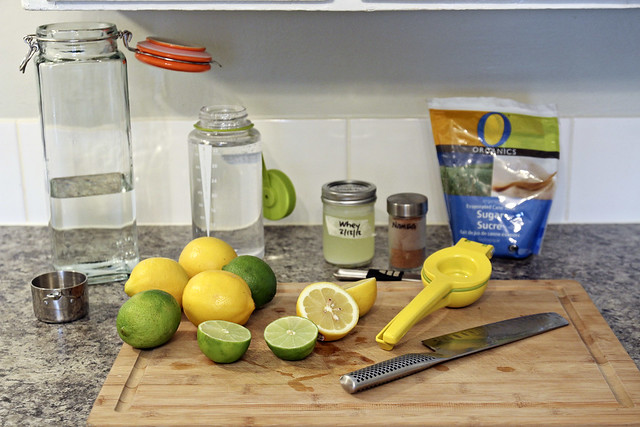making fermented lemondade