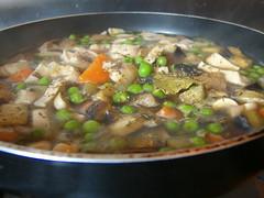 Seitan stew howto 2: boil low-heat