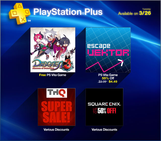 PlayStation Store Update 3-26-2013