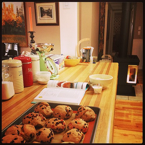 Mar 29 - 'k' {baking hot crossed buns in my KITCHEN} #photoaday #easter #baking #princeedwardcounty