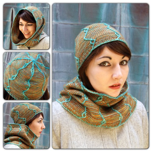 Mandarinfish hat and cowl