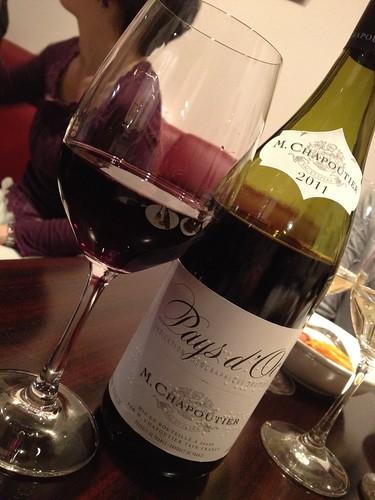 ワインは飲み放題にしてもらいました。@レ マーシャン ド レーヴ