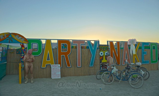 naturist Tiki Bar 0196 Burning Man 2012, Black Rock City, NV, USA