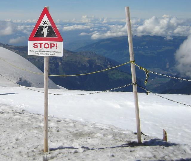 sign in Alps Switzerland