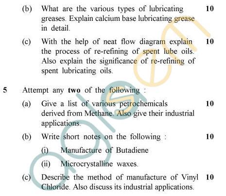 UPTU: B.Tech Question Papers -OT-011 - Petroleum & Its Products
