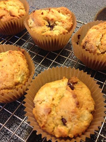 gluten free banana chocolate muffins