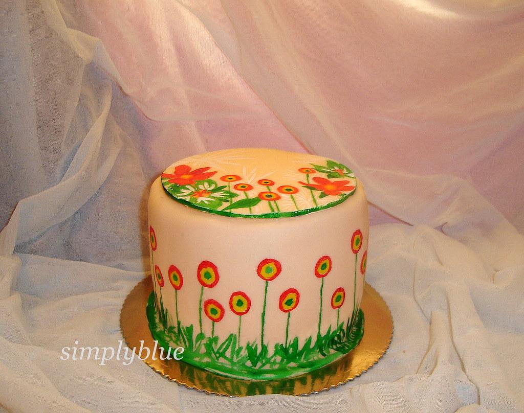 рисувана торта