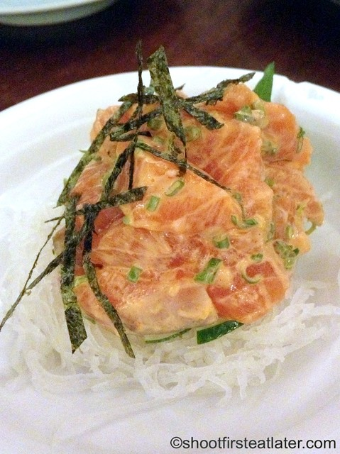 spicy salmon sashimi P550