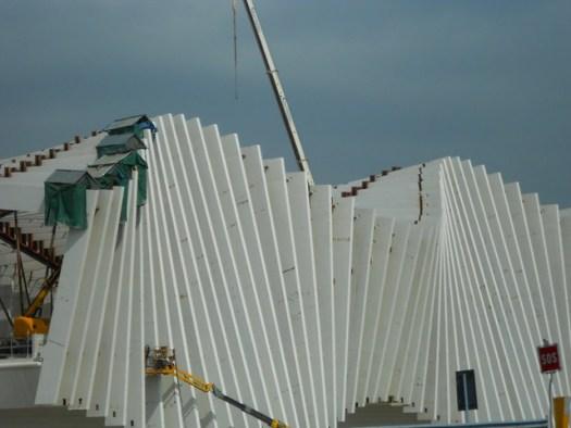 avanzamento lavori stazione alta velocità - Reggio Emilia di Calatrava
