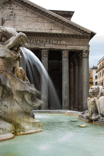 A fountain at The Pantheon Rome