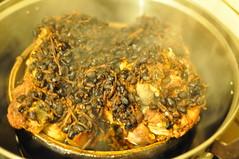 Steamed black bean pork