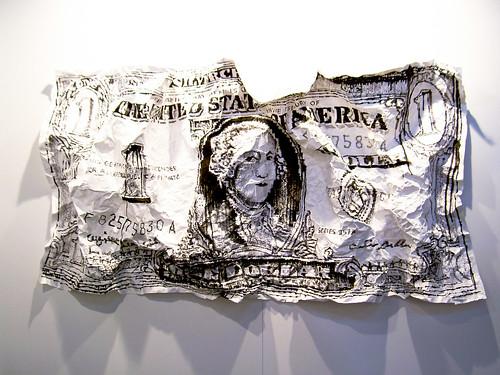 Dólar representado en un cuadro