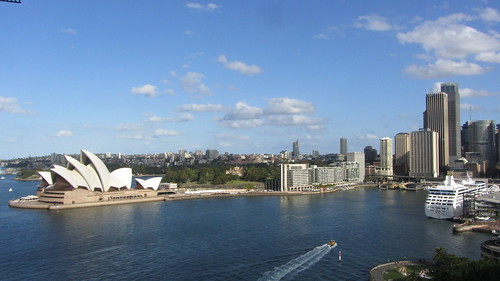circular quay from the harbour bridge