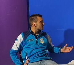 Julián, en plena entrevista