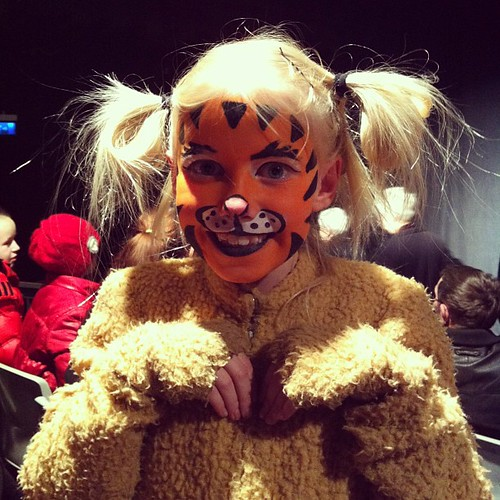 Karítas as Garfield, her first stage performance. I see many more in her future!