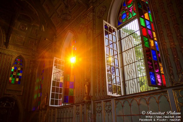Through the colored glass