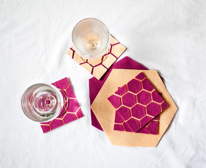 DIY Geometric Coasters via CieraDesign.com