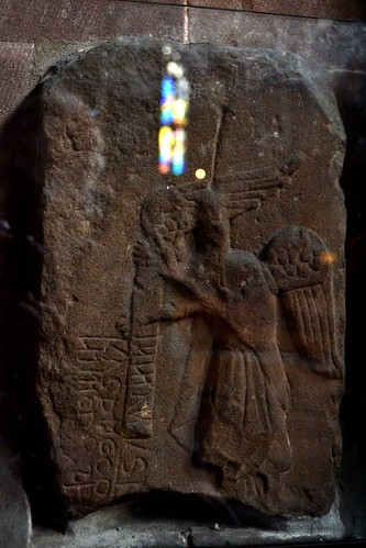 Medieval Angel Stone, Mcr Cathedral by Angela Seager