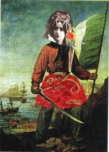 pirate ballerina postcard by CaZaTo Ma