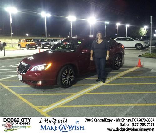 Congratulations to Rhonda Harrison on the 2013 Chrysler 200 by Dodge City McKinney Texas