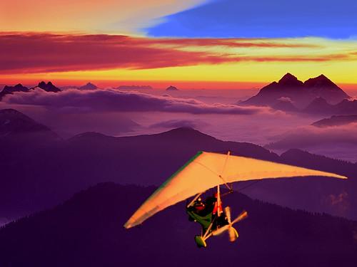 Flight with Motorized Ultralight