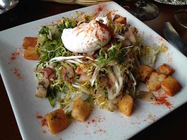 Salade frisee aux lardons - Le P'tit Laurent