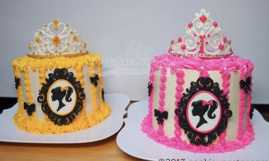 Barbie themed cakes