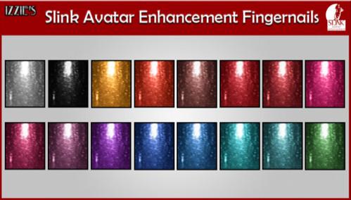 Izzies Avatar Enhanced Nails - Metalic @ My Attic