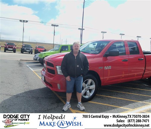 Congratulations to Jimmy Holt on the 2013 Dodge Ram by Dodge City McKinney Texas